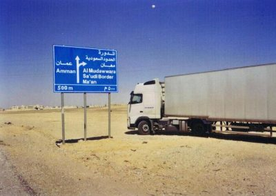 JOR Saudia Arabia border